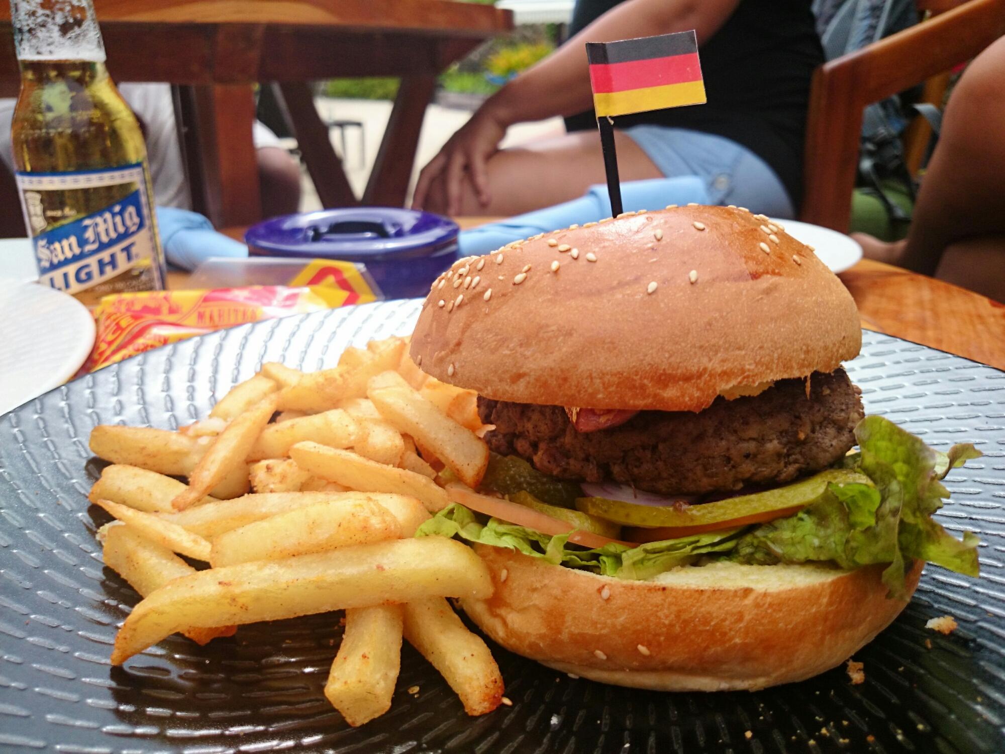 World Cup Hamburgers at Shangri-La's Mactan Resort