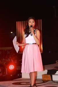 Ms. Mandaue 2012 Nicole Tuazon hosted the talent night of Miss Mandaue 2015