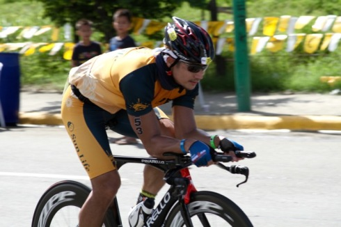 Piolo Pascual in the 2015 Cobra Ironman 70.3 Philippines